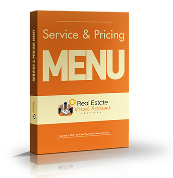 Get The Real Estate VA: Service & Pricing Menu