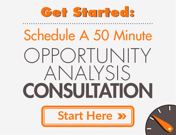 Schedule a FREE 50 Minute Opportunity Analysis Consultation