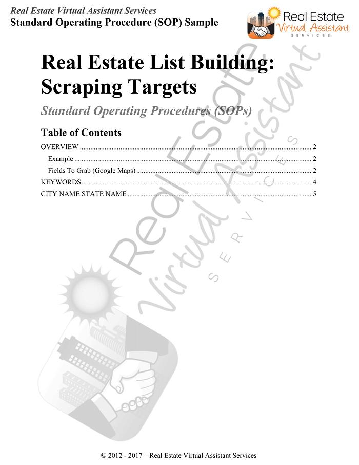 Standard Operating Procedures - Real Estate Virtual Assistant ...